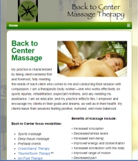 Back to Center Massage - small business